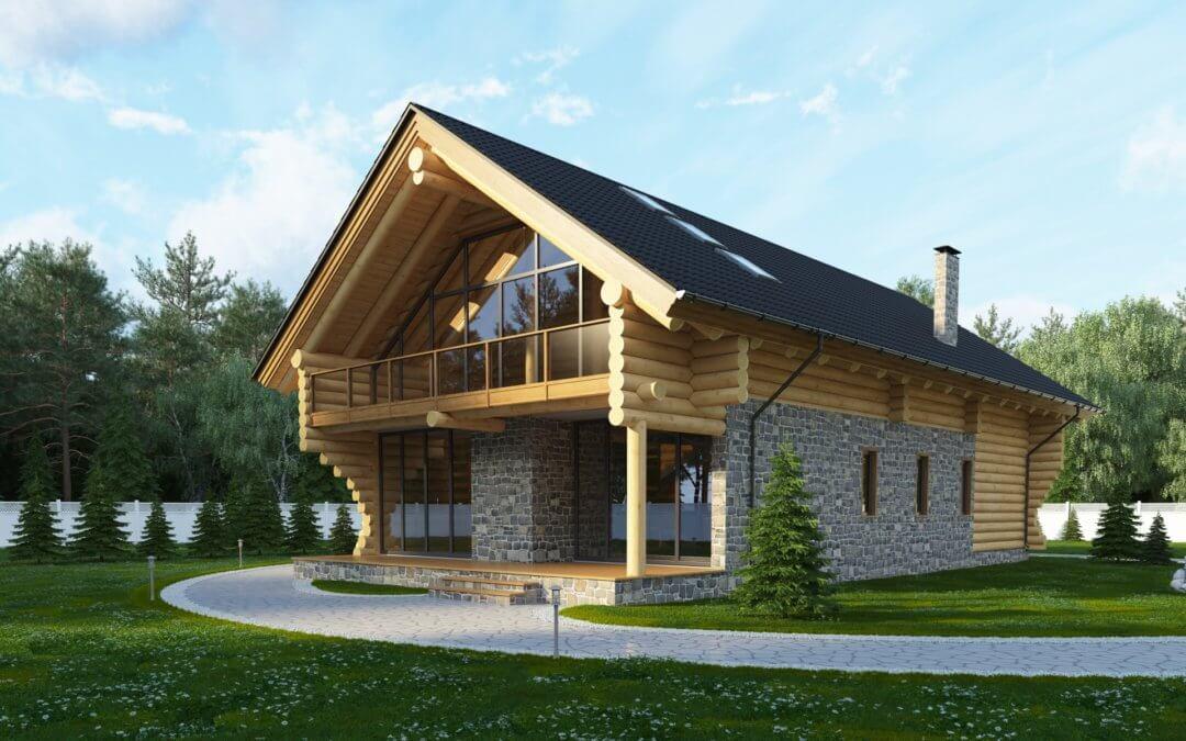 Заміський будинок в стилі шале