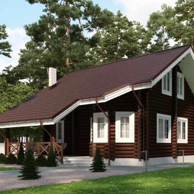 Будинок-шале із критою терасою