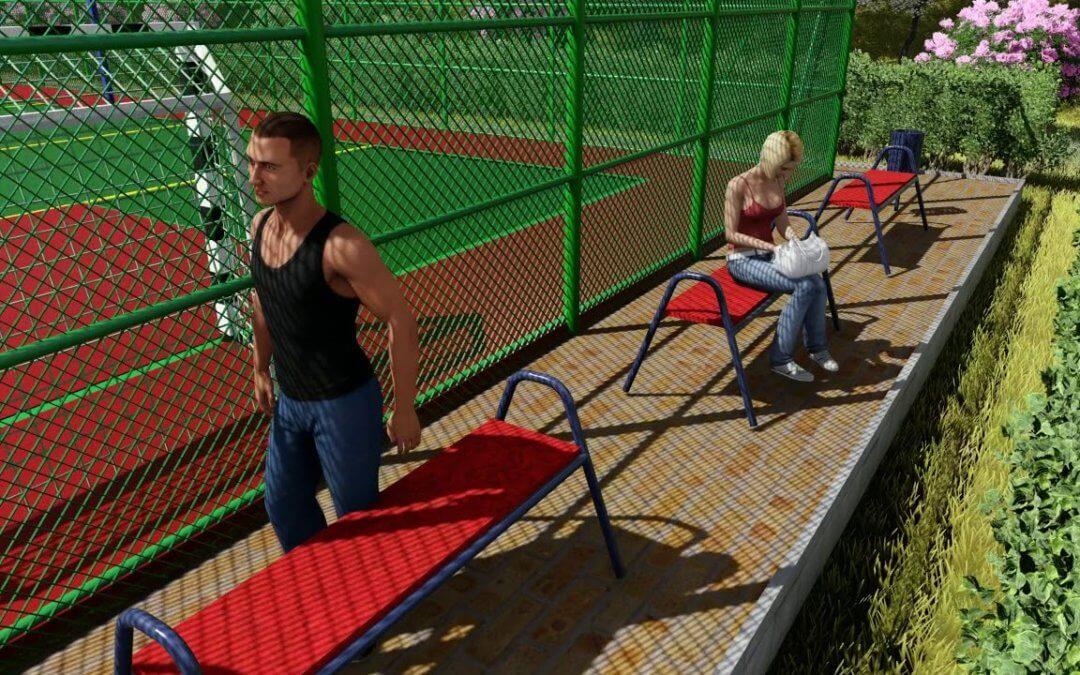 Проект спортивно-гімнастичної зони в парку у Львові