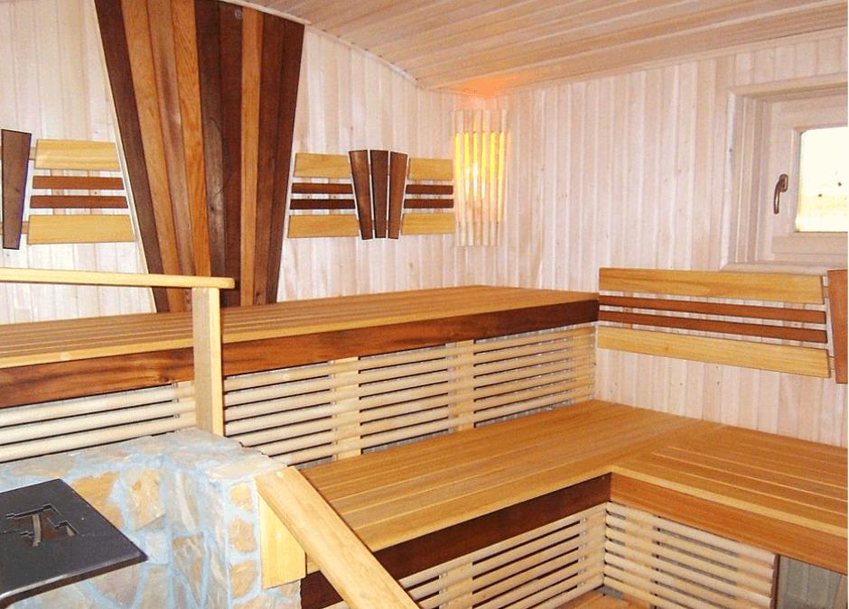 Оздоблення сауни дерев'яною вагонкою