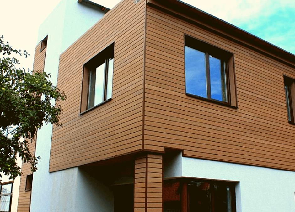 Оздоблення фасаду деревом