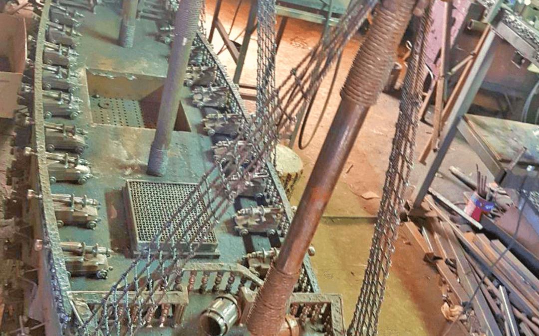 Кораблик кований з металу